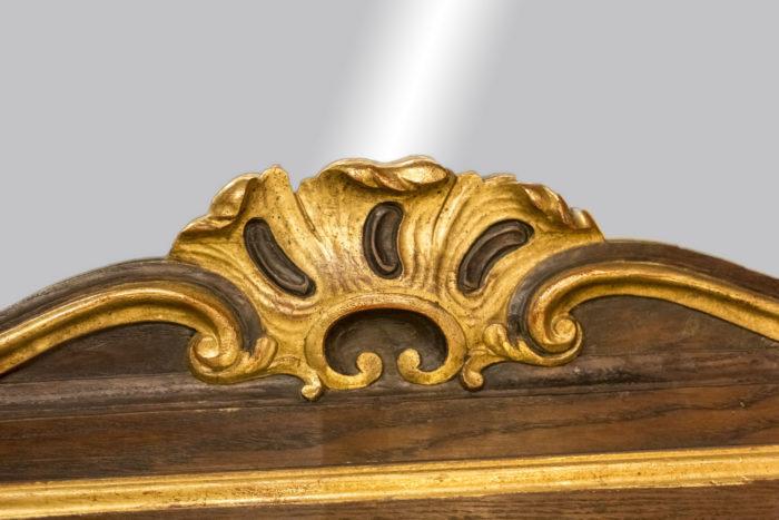 miroir rococo bois naturel doré coquille