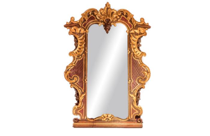 rococo mirror louis xv gilt wood front main