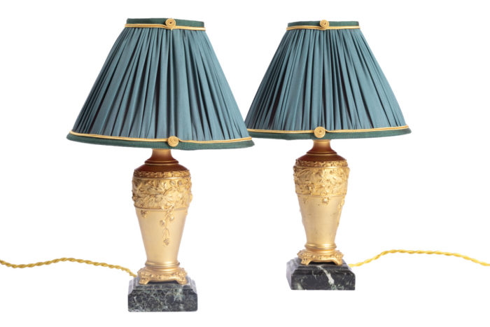 paire lampe louchet bronze doré photo pcple