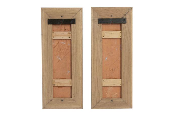 pair vestal terracotta framed back