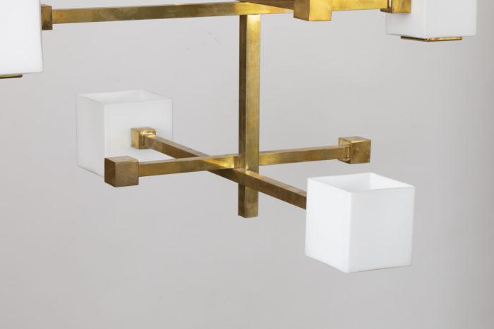suspension laiton doré cube en verre partie bassesuspension laiton doré cube en verre partie basse