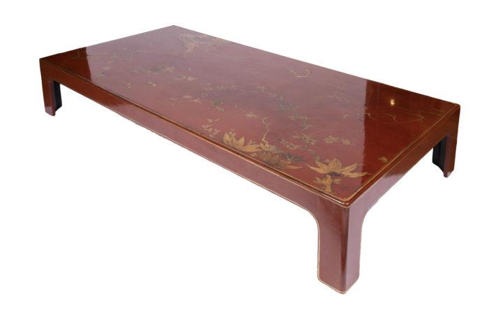 table basse laquée rouge biais4