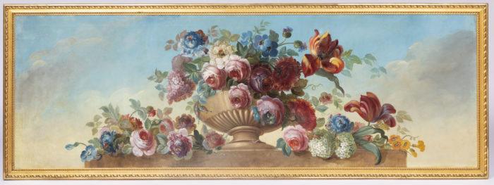 tableau vase godrons