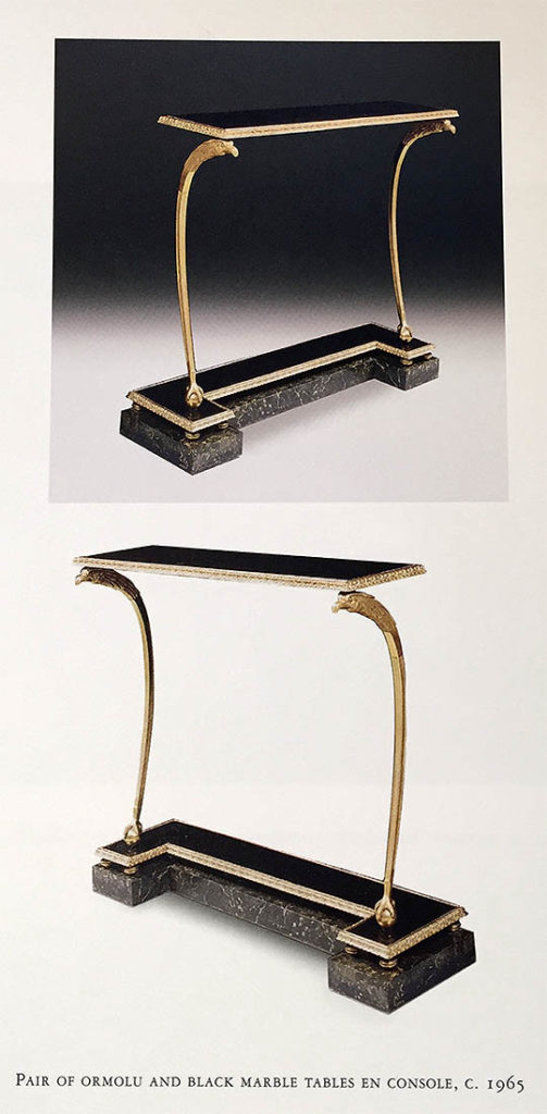 tables consoles maison jansen