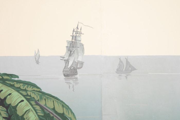 zuber deltil vues du brésil détail palmes et navires