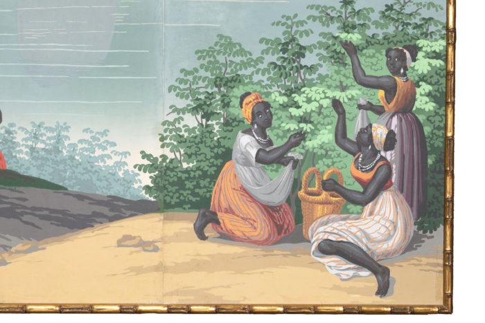 zuber deltil vues du brésil femmes noires cueillette
