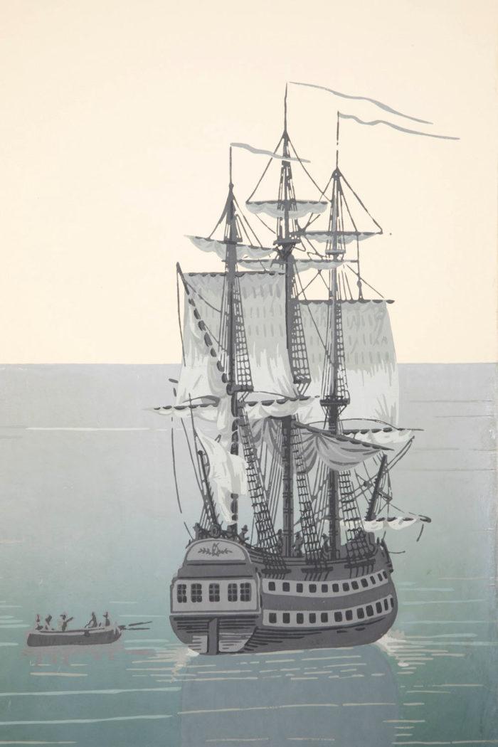 zuber deltil vues du brésil navire anglais