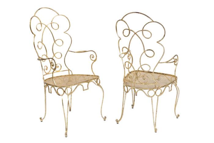8 chaises dorées 2 chaises