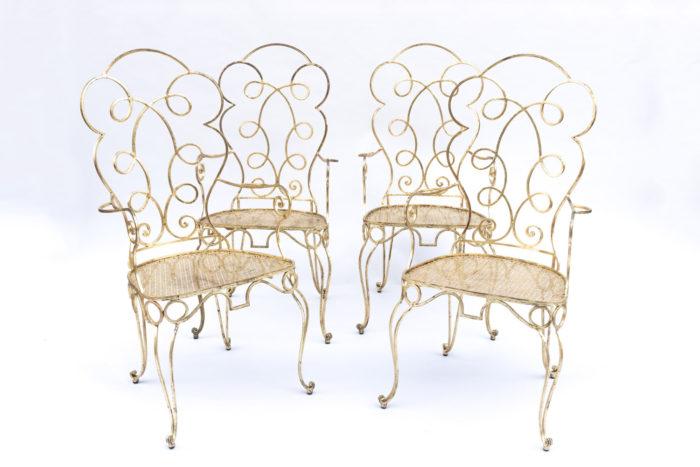 8 chaises dorées 4 chaises