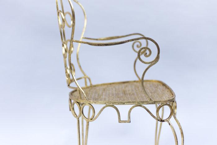8 chaises dorées chaise accotoir côté