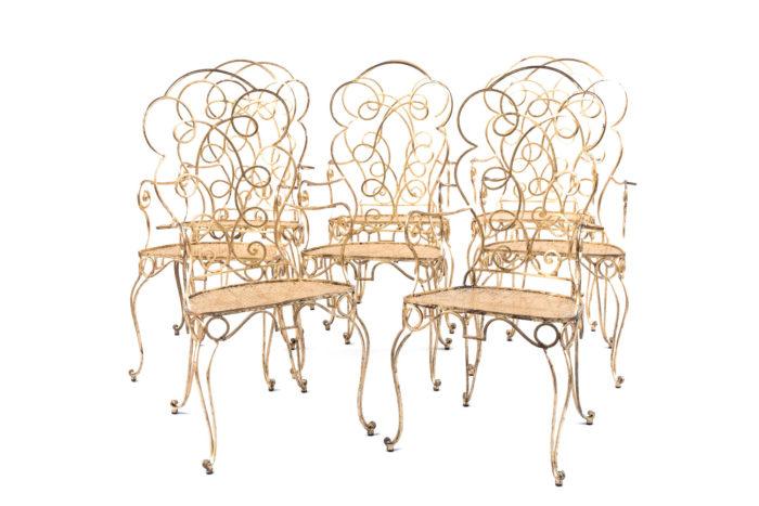 chaises dorées poillerat