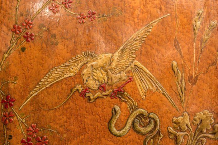 armoire bambou japon oiseau serpent