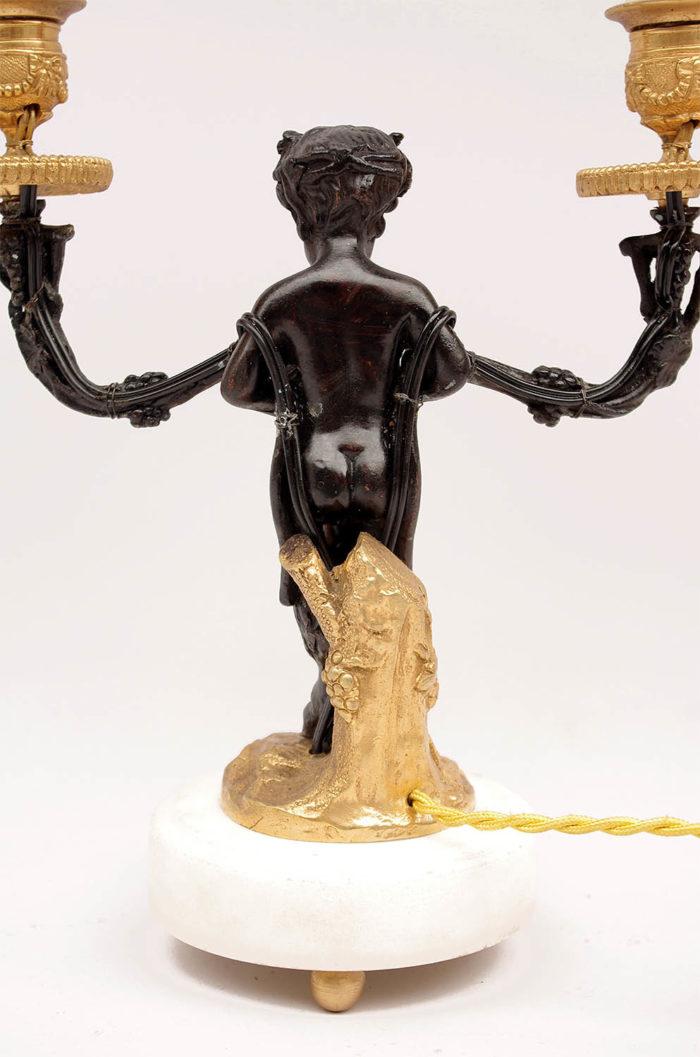 satyr candlestick back