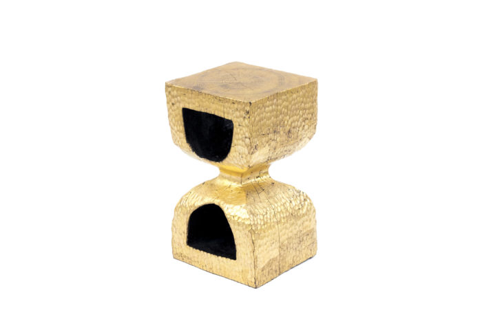 bout de canapé bois doré chêne sablier
