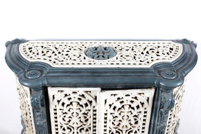 dresser stove enamelled melt scrolls