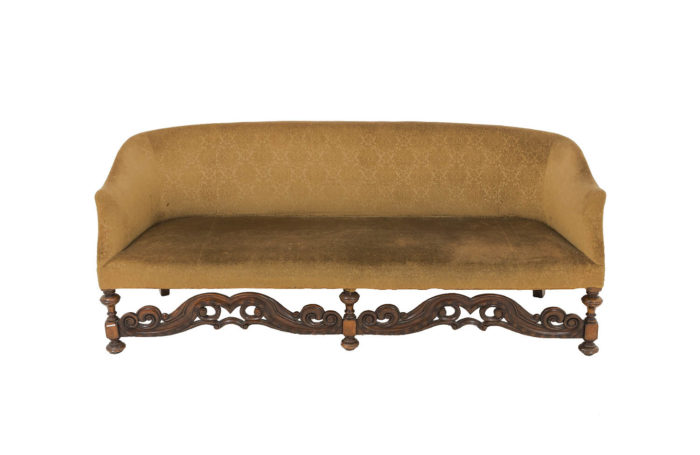 carved wood jacobean english style sofa