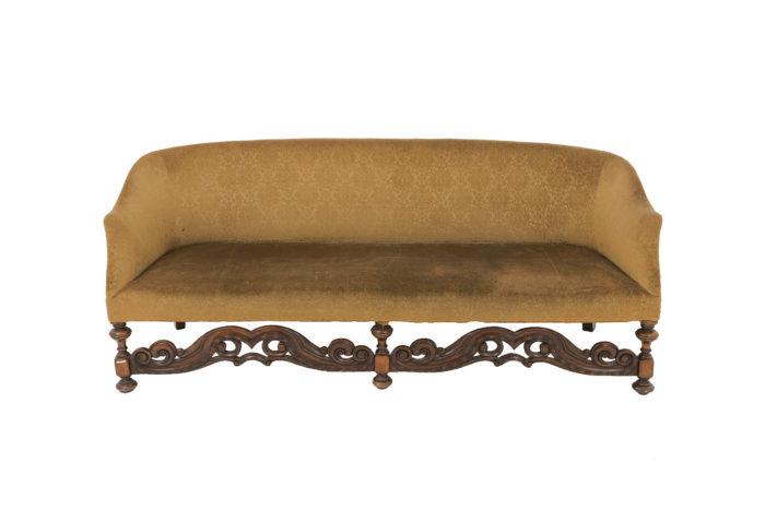 canapé bois sculpté style anglais jacobin prcpl
