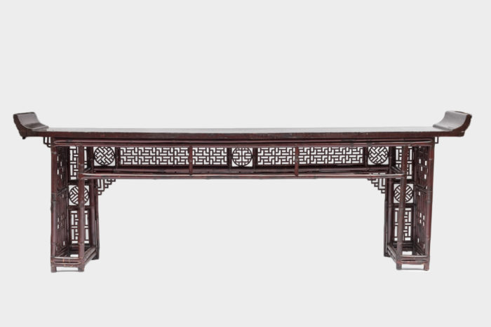 console chinoise rouge dos