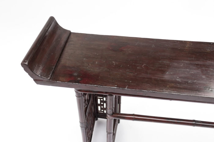 console chinoise rouge plateau pagode