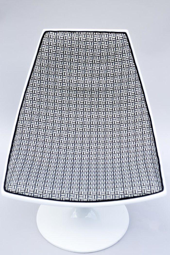 fauteuil blanc 70s tissu