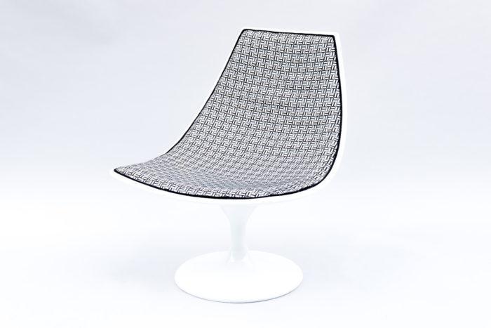 fauteuil blanc pivotant 70s 3:4