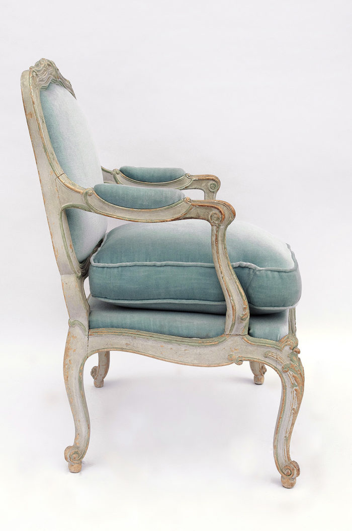 fauteuil chassis louis xv profile