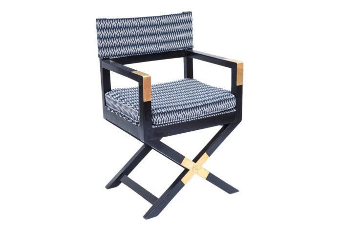 fauteuil ployant laqué noir prcpl