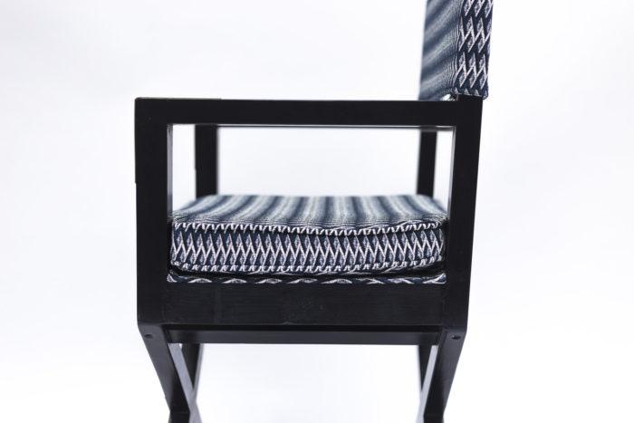 fauteuil ployant laqué noir accotoir côté