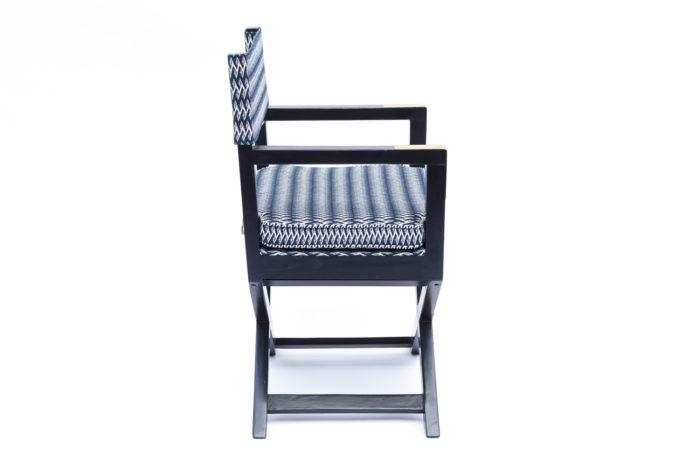 fauteuil ployant laqué noir côté 2