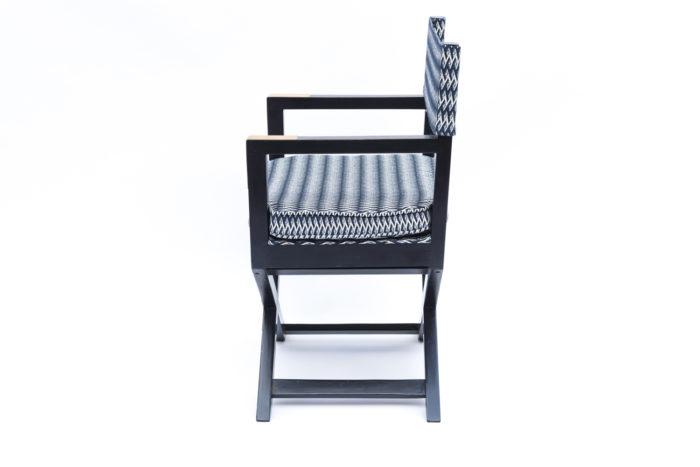 fauteuil ployant laqué noir côté