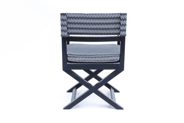 fauteuil ployant laqué noir dos