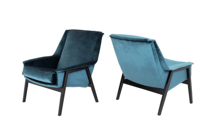 fauteuils bleus carlo di carli côté et 3:4 dos