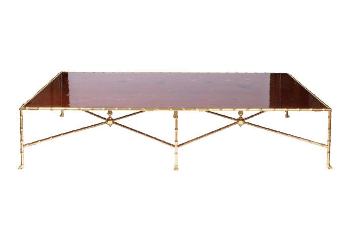 grande table basse laque rouge prcpl