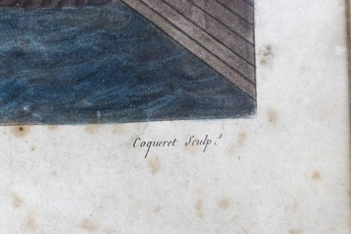 gravure paris coqueret signature
