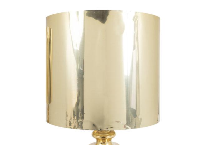 lampe abat-jour conique porcelaine dorée