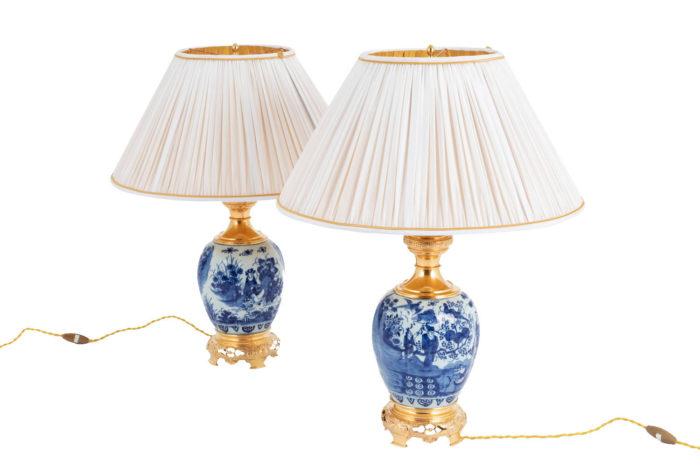 lampe faience delft bleu blanc pcple