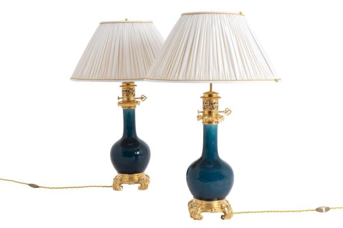 lampe porcelaine bleu theodore deck pcpl