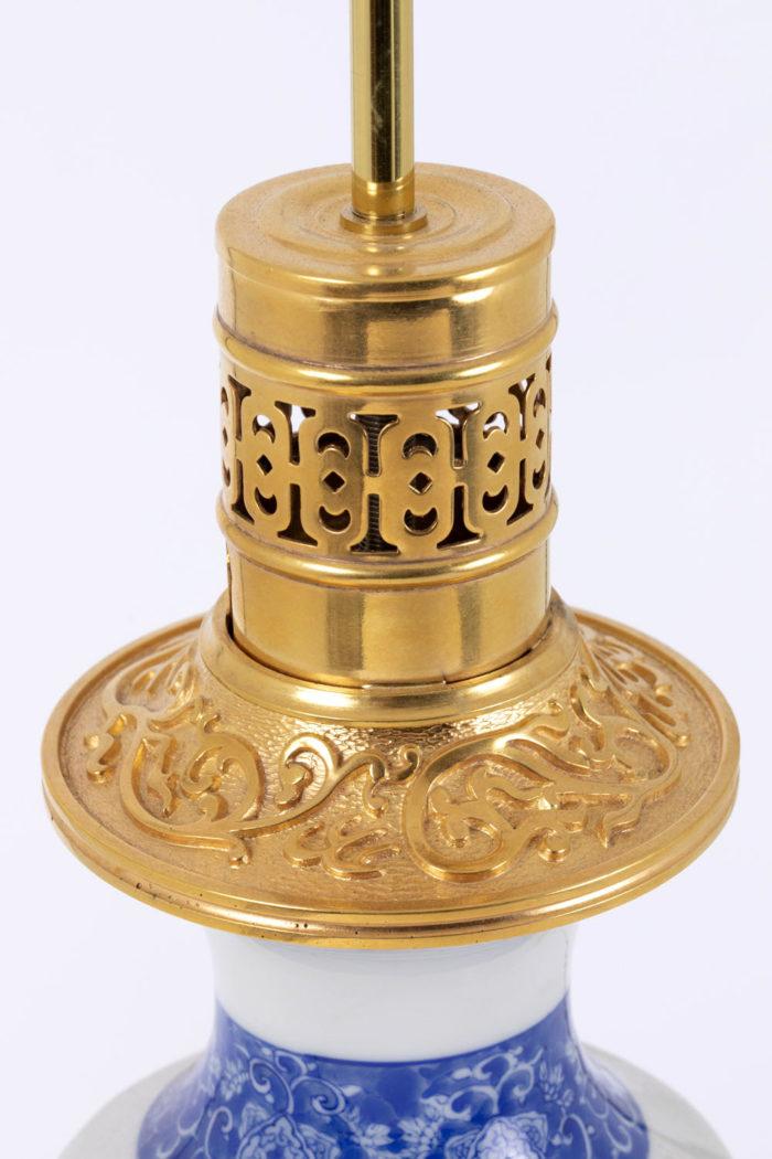 lampe porcelaine japon haut monture bronze doré
