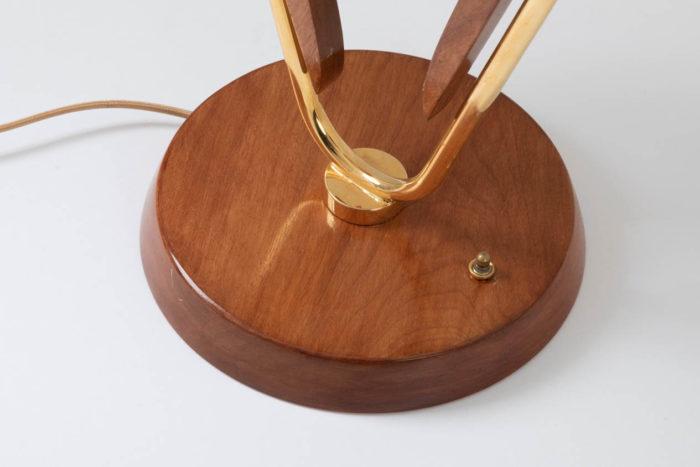 lampe voilier base bois laiton