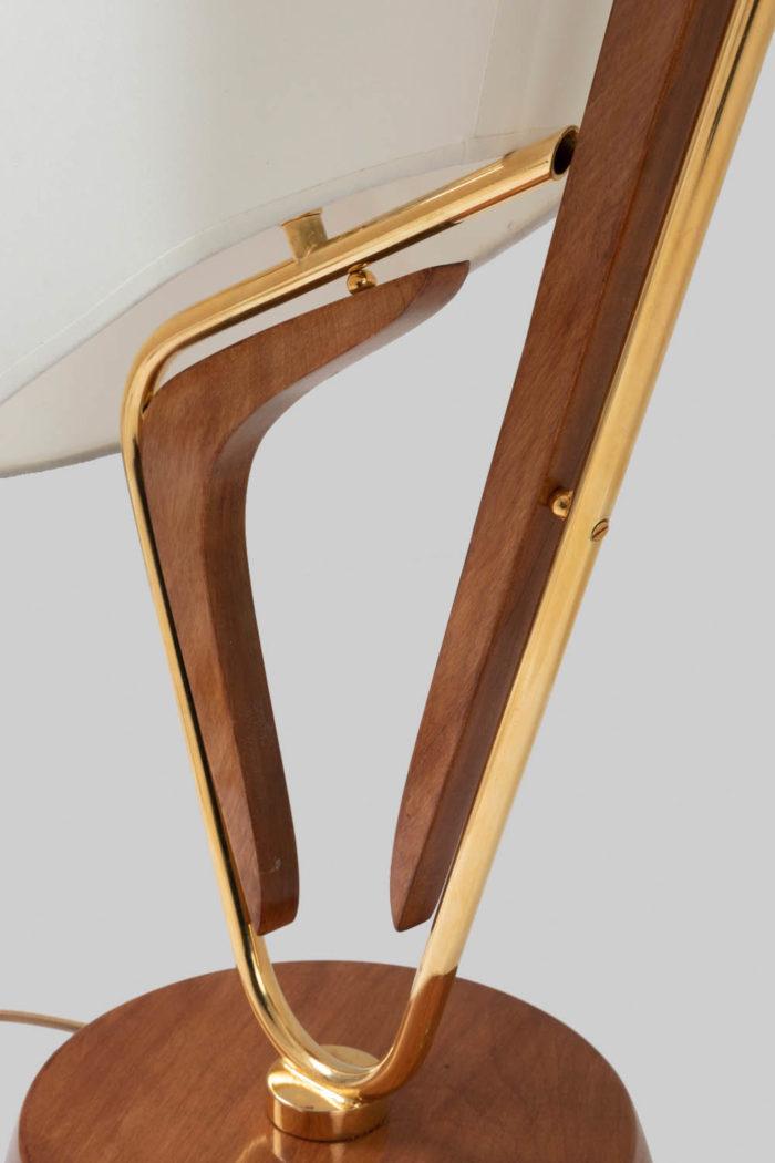 lampe voilier structure laiton bois