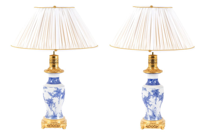 lamps japanese porcelain blue and white