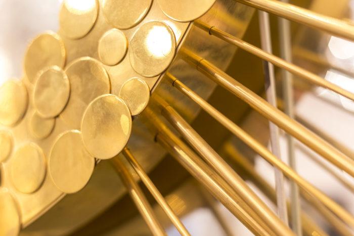 miroir soleil laiton doré pastille détail 2