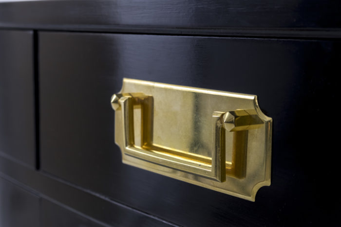 black lacquered buffets handle