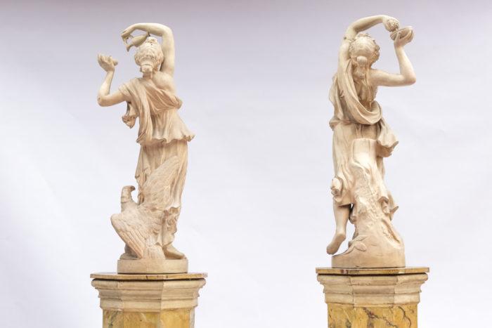 paire sculptures céramique dos