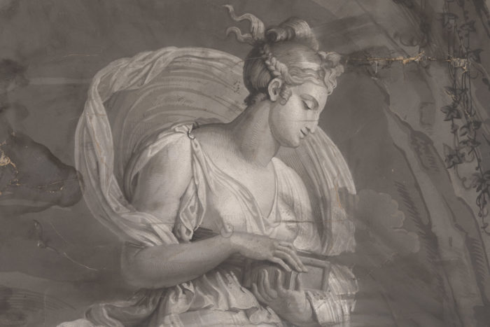 papier peint dufour psyché détail buste