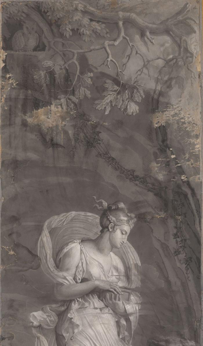 papier peint dufour psyché nature détail