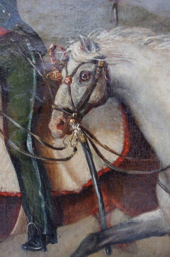 peinture militaire cheval détail