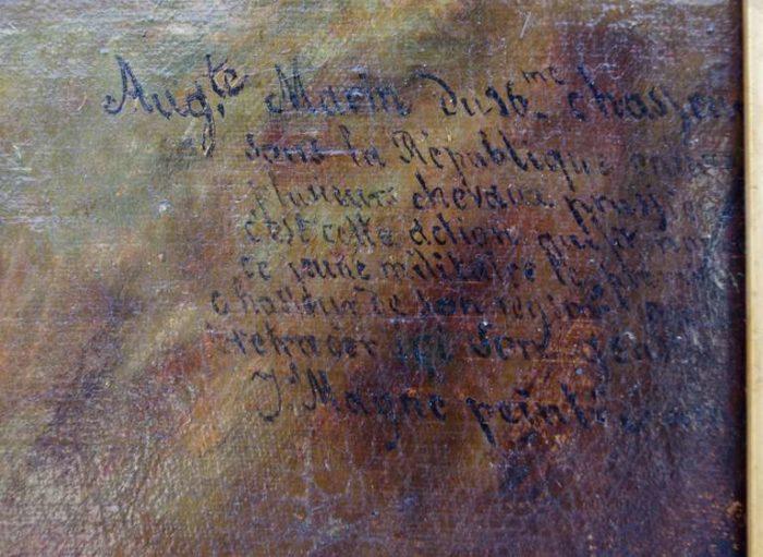peinture militaire écritures