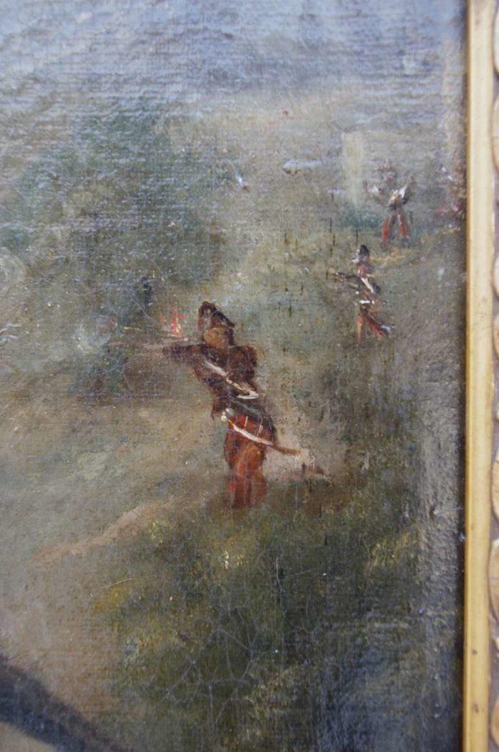 peinture militaire soldats tirant
