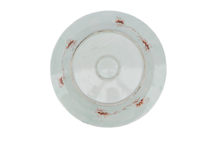 plat porcelaine famille rose canton dos